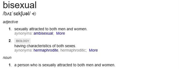 Bisexual women meaning