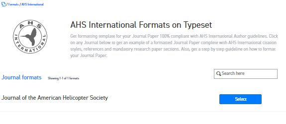 Where can I find the Word template for AHS International journals ...