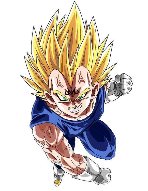 Why Does Vegeta Have An M On His Forehead When He Joined Majin Quora