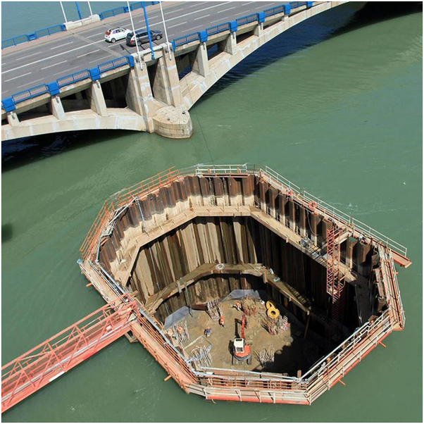 How do they build the pillars of a bridge over the sea? - Quora
