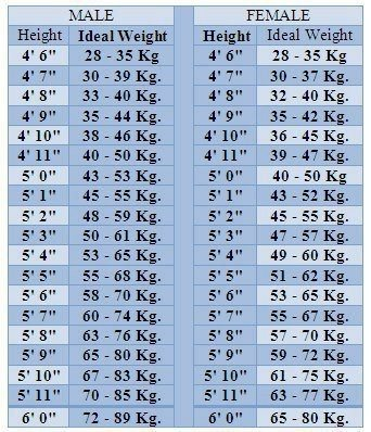 weight vs height chart for men in kgs: How much should i weigh if my height is 5 8 quora