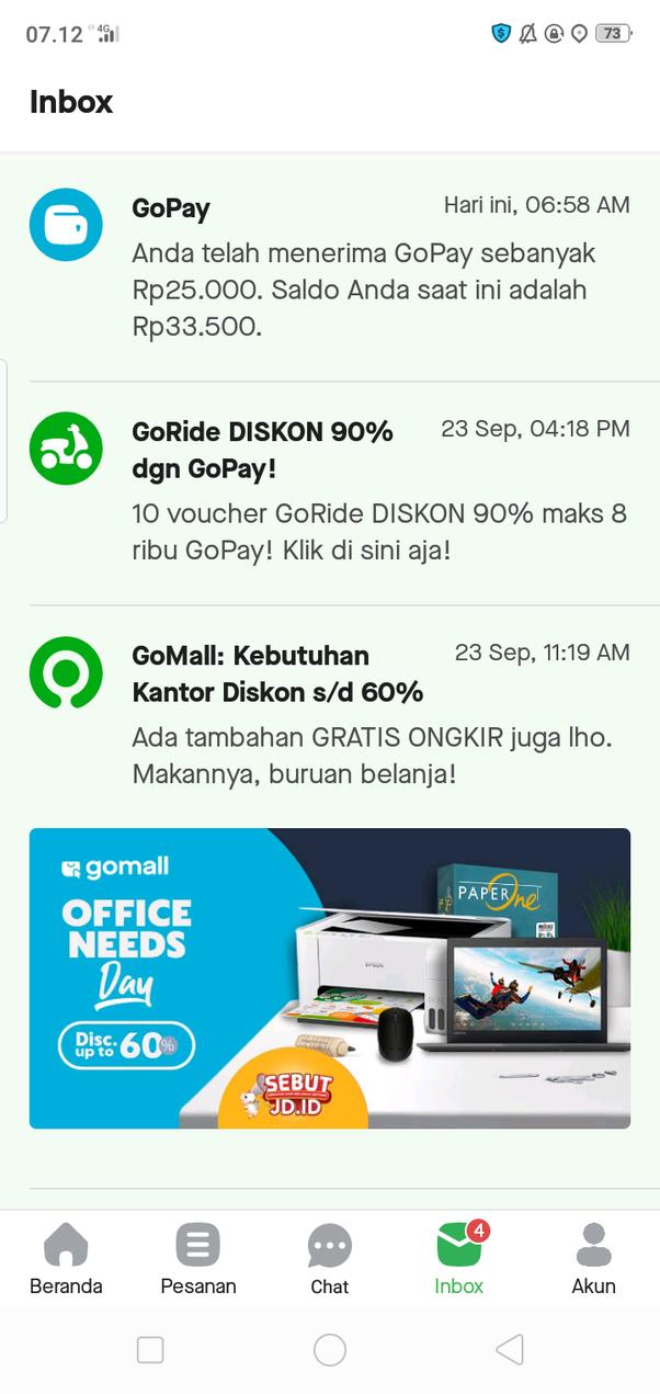 Bagaimana cara agar ketika saya topup Gopay aplikasi Gojek tidak ...