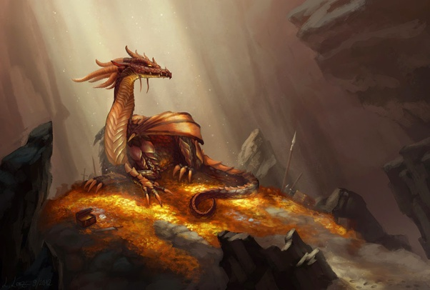 What does the dragon guarding the hoard of gold represent australian lunar gold dragon