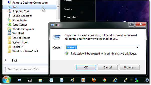 What is another way of accessing the task manager without ctrlalt under the accessories folder click the run command you can also press they windows key r on your keyboard or enable the run command in your start menu ccuart Gallery