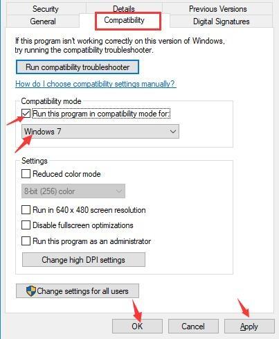 windows 8 compatibility mode