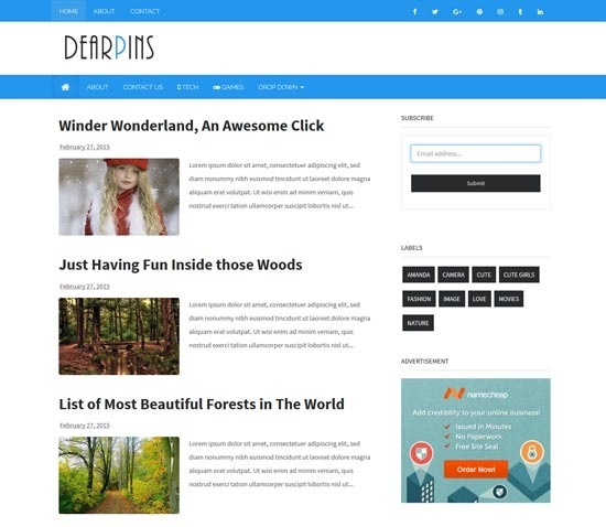 Which Best blogger template? - Quora
