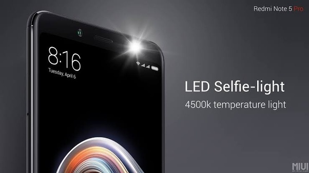 Does the Redmi Note 5 pro have selfie flash? - Quora