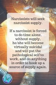 When does a narcissist start regretting the loss of a supply