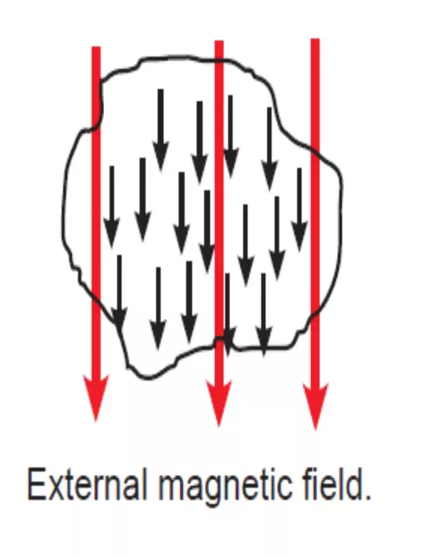 The Black Arrows Represent North Poles Of Iron Atoms This Domain All Point In Same Direction When An External Magnetic Field