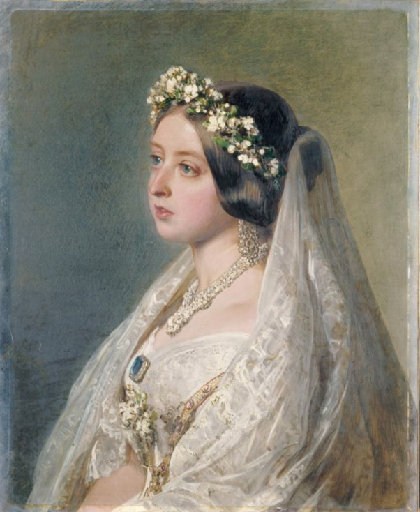 Can you wear white to a wedding quora we dont much know what was the colour of a brides dress but queen victoria on her wedding day chose to wear a white dress made of silk satin junglespirit Image collections