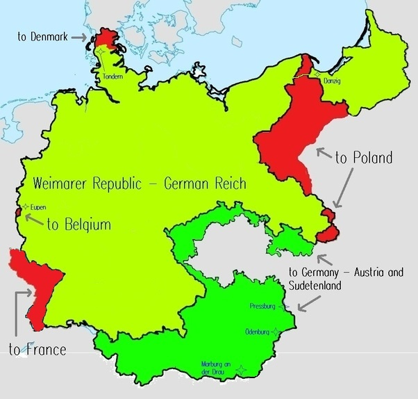 Map Of Germany 1919.How Would You Improve The 1919 Treaty Of Versailles To Avoid The
