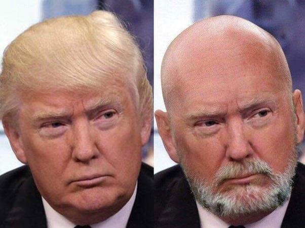 Glatze bart mit Ganz Kurze