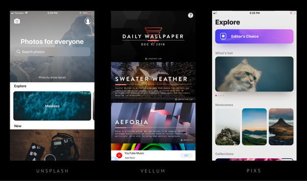 I tried a lot of wallpaper apps and I would recommend these free apps: