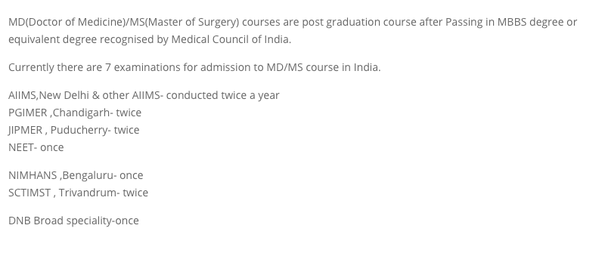 How many times can a person apply for NEET PG in a year? And