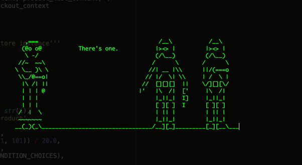 One Line Ascii Art Star Wars : One line ascii art star wars neobytes episode