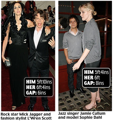 Famous women dating shorter men are better