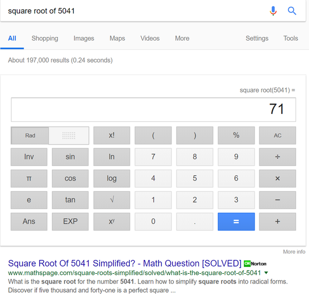 What Is The Square Root Of 5041 Quora