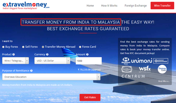 Extravelmoney Is An Online Portal Of Foreign Exchange Services In India