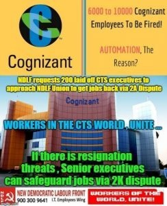 Is Cognizant going to lay off its employees? If yes, then when are