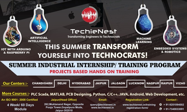 Does TechieNest provide summer training at Delhi NCR? - Quora