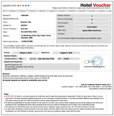 Do We Need To Print An Agoda Hotel Voucher Quora