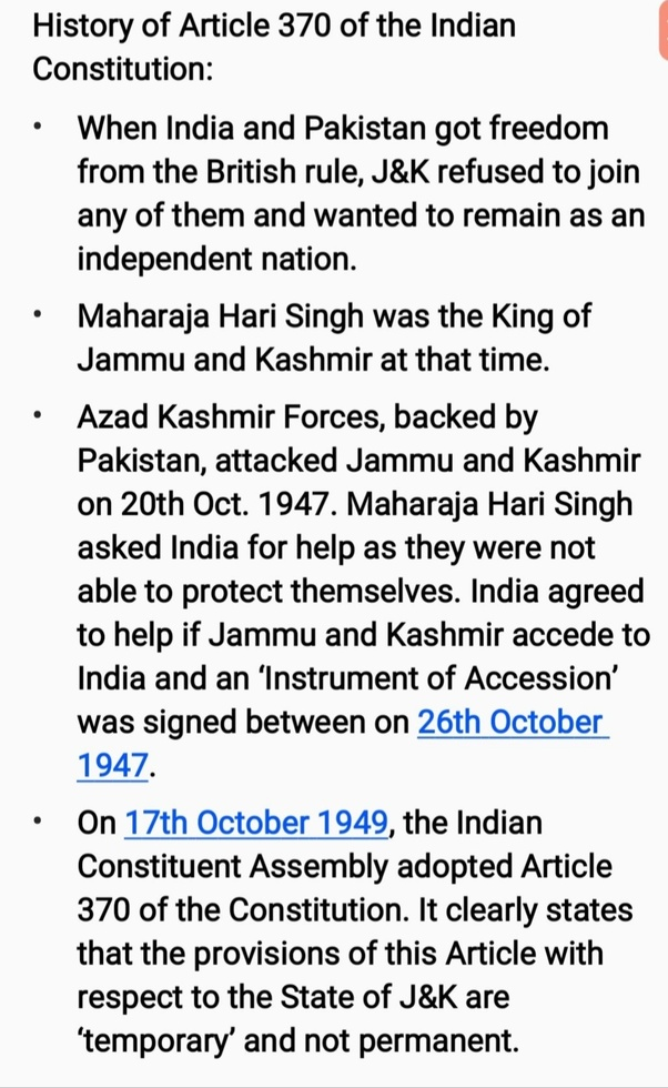 What will happen if Article 370 is removed from the