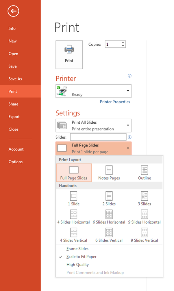 revert pdf 6 slides per page to powerpoint