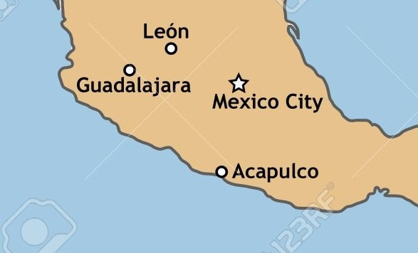 Which mountain range is between Acapulco and Mexico city ...