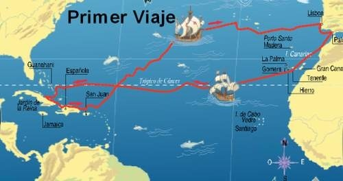 What was the exploration route of Christopher Columbus during his ...