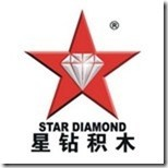Star diamond compatible with Lego 3