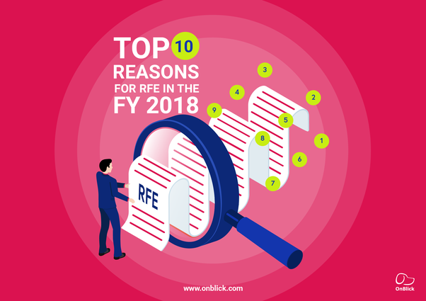 What are the top reasons for Request For Evidence(RFE
