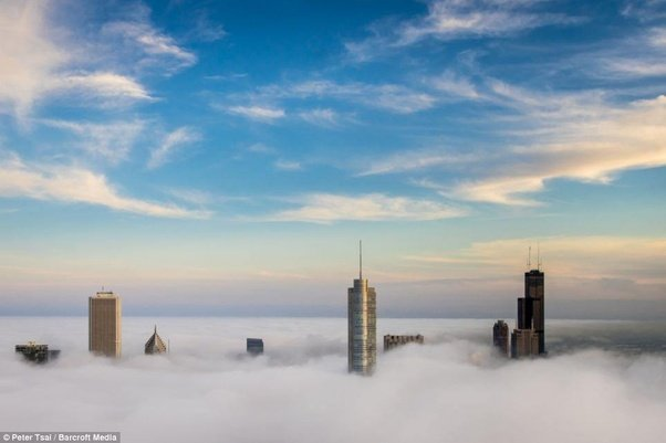 is it possible for a building to be built above the clouds and how
