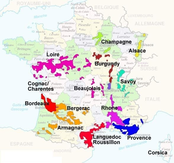 What is the difference between French burgundy and Bordeaux wine