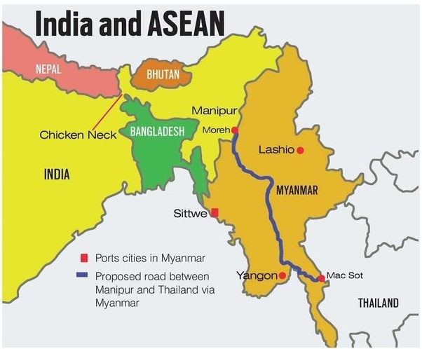 How will india recover the northeast if china somehow captured the if china captured chickens neck siliguri corridor india would have to fight back and capture the chickens neck back from china this is not an easy gumiabroncs Choice Image