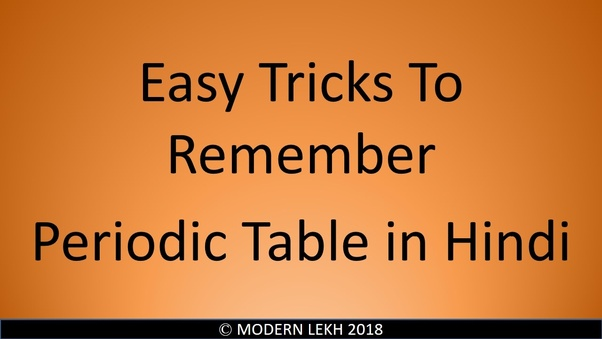 easy way to learn periodic table pdf