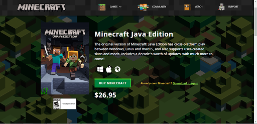 Minecraft java edition crack download