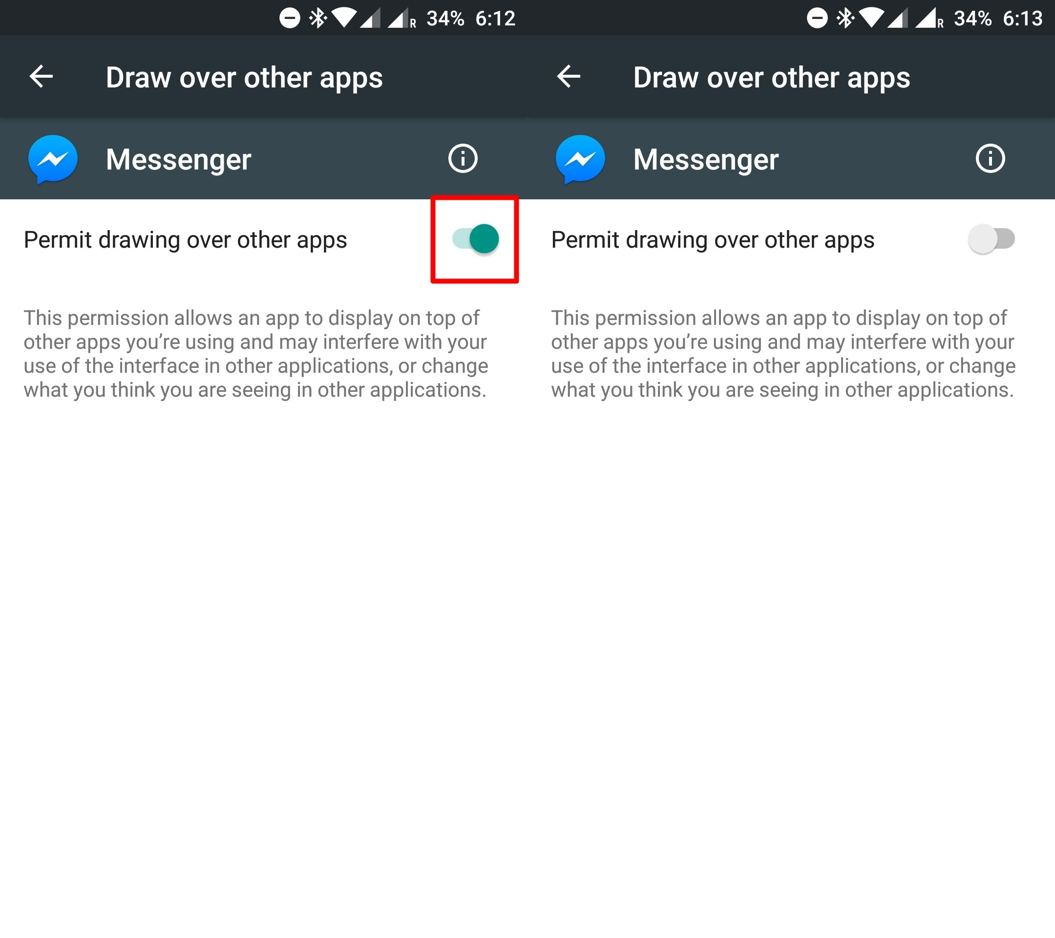 """How to fix """"Screen Overlay Detected"""" in any android device"""