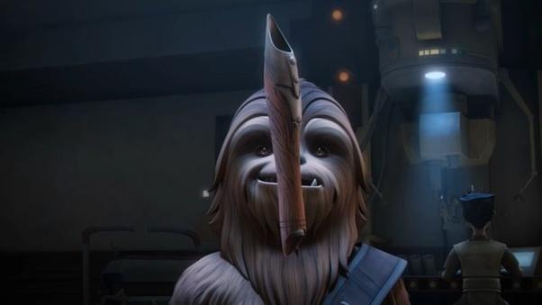 Gungi The Wookiee / Gungi is barefoot due to being a wookiee.