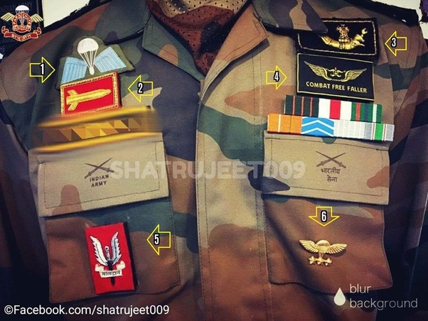 What Are The Various Badges Worn By Para Commandos Of The Indian
