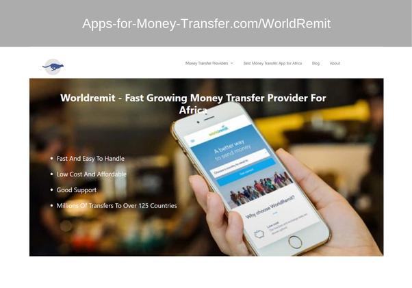 Do you use the international Money transfer app worldremit