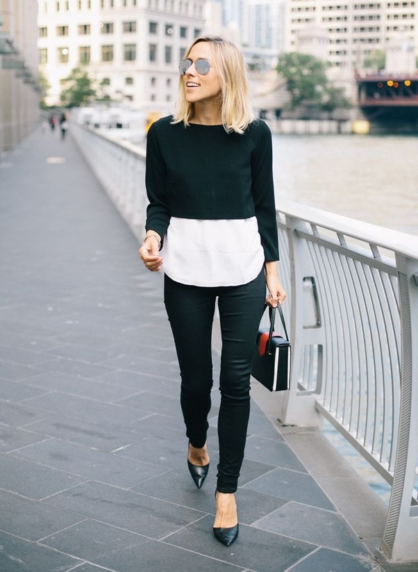 04e5a6ca3d260 What are some ways to wear crop tops without showing any of the ...