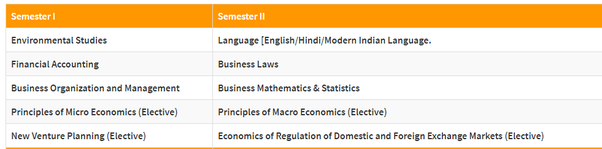 What are the subjects in B Com 1st year? - Quora