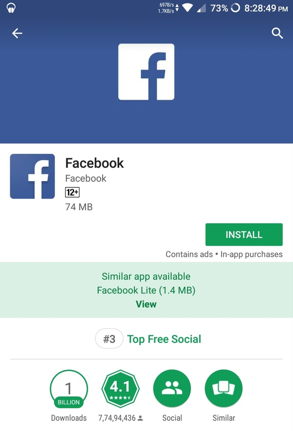 cant download facebook app on windows phone