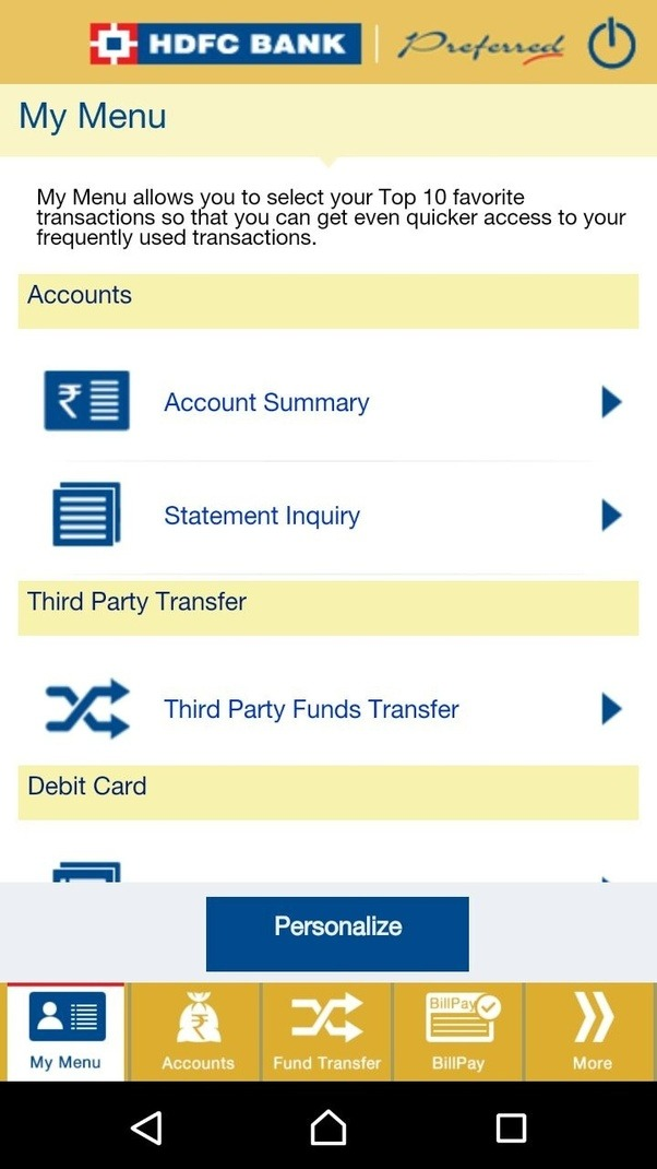 hdfc bank netbanking mobile app