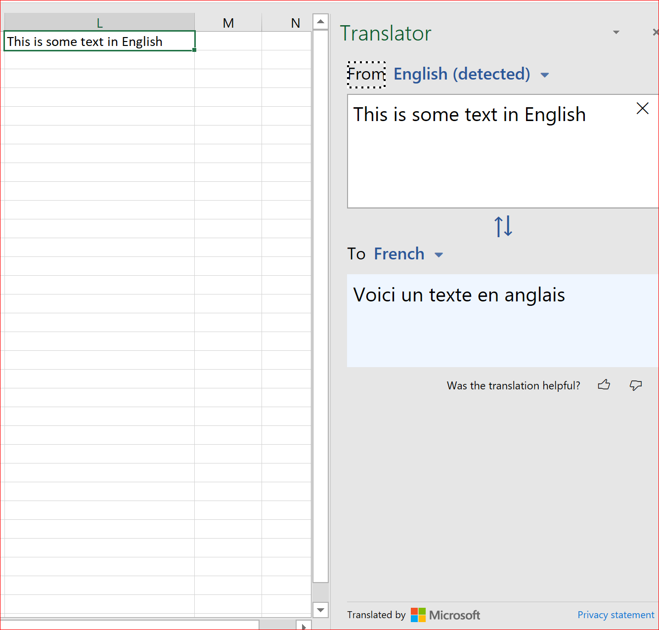 Is there a translation formula in Excel   Quora