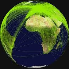 great circle navigation commercial aircraft by and large fly in a straight line called great circle great circle is the shortest distance between any two