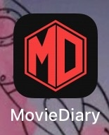 its an app but movies diary it is black and has the letters m and d in a box with a red outline has almost every single movie i can think of