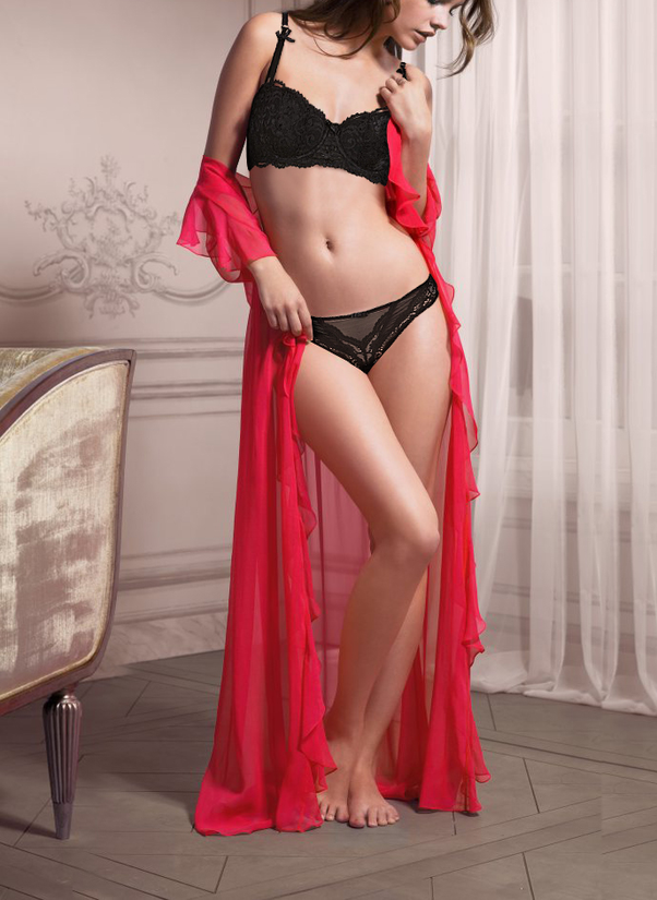 249ab21cd8 -Transparent bra and panty sets  Lace being the oomph factor in these  pairings
