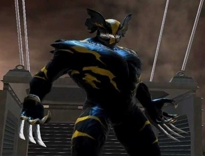 Symbiote Wolverine appears also in the  Marvel Heroes  PC video game there may be some base stats in that for him but I have not played it. & How strong will the hero be if wolverine and venom are fused? - Quora