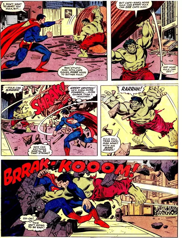However Superman Fights The Hulk Toe To In A Fair Fight He Doesnt Use Any Of His Other Abilities Just Stands There And